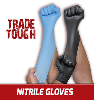 Stretch disposable nitrile gloves