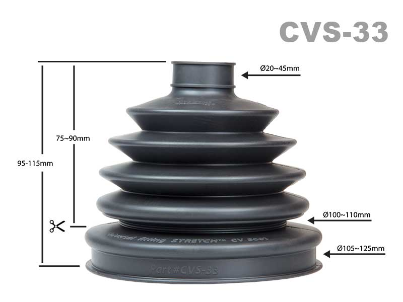 STRETCH CVS-33 Universal CV Boot