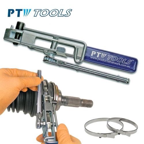 Ratcheting Tension Clamp Banding Tool
